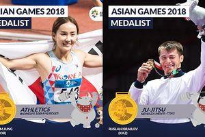 Bảng tổng sắp huy chương ASIAD 2018 ngày 31/8: Việt Nam hơn UAE 3 bậc