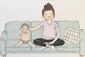Bộ tranh về cuộc sống 'mệt trăm bề' của mẹ