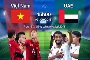 U23 Việt Nam và U23 UAE: Giành chiếc HCĐ đầu tiên trong lịch sử
