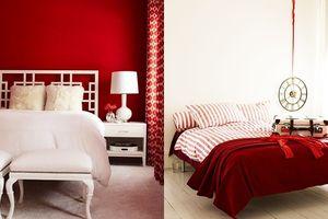 Phòng ngủ lúc nào cũng nồng nàn lửa yêu nhờ khéo léo sử dụng gam màu đỏ