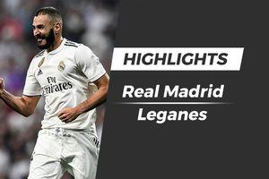 Highlights Real Madrid vs Leganes: Benzema lập cú đúp