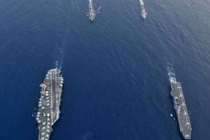 Tàu chiến lớn nhất Nhật Bản tập trận với Mỹ ở Biển Đông