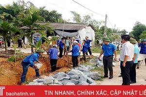 Nhiều địa phương ở Thạch Hà hưởng ứng 100 ngày cao điểm xây dựng NTM