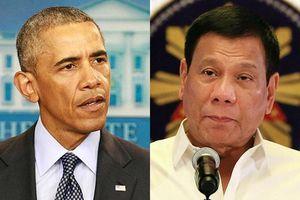 Duterte xin lỗi vì từng gọi Obama là 'đồ con hoang'