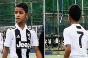 Ronaldo bố tịt ngòi, Ronaldo con ghi poker cho U9 Juventus