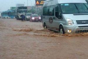 Nhiều đoạn Quốc lộ 1A qua địa phận Đồng Nai ngập nước do mưa lớn
