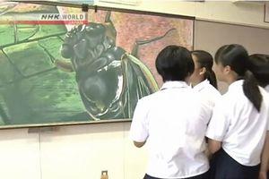 Tranh vẽ trên bảng đen