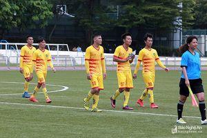 Đội bóng Hội đồng hương Nghệ An tranh tài giải GOW Cup tại Đài Loan