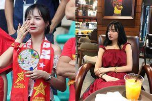 Vừa được đài SBS phỏng vấn, thiếu nữ xinh đẹp lại gây sốt vì bật khóc khi Olympic Việt Nam thua trận