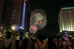 Pháo hoa rực rỡ khoe sắc trên bầu trời Sài Gòn dịp nghỉ lễ 2/9