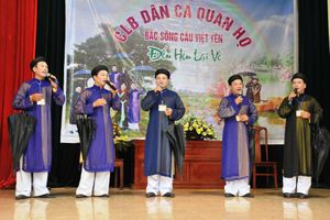 Giao lưu hát quan họ truyền thống chào mừng quốc khánh nước Cộng hòa xã hội chủ nghĩa Việt Nam 2-9-2018
