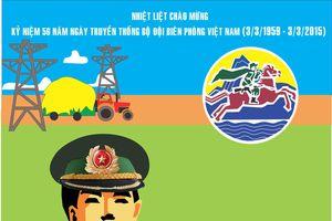 Sáng tác tranh cổ động kỷ niệm Ngày truyền thống Bộ đội Biên phòng
