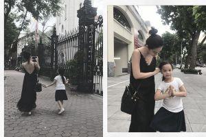 Giữa lùm xùm ly hôn, Phạm Quỳnh Anh dẫn con gái trở về nơi 'chôn rau cắt rốn'
