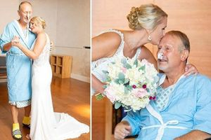 Xúc động cô dâu vào bệnh viện để khiêu vũ với bố trong ngày cưới