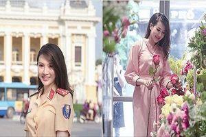 Truy tìm nữ CSGT xinh đẹp tựa hot girl tại Hà Nội
