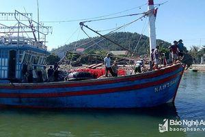 Cứu 17 thuyền viên trên tàu cá trôi dạt trên vùng biển Nghệ An 