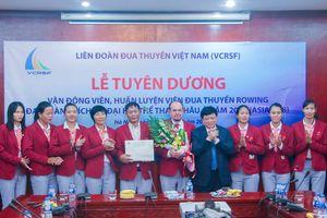 VOV trao thưởng 200 triệu đồng cho ĐT Rowing Việt Nam giành HCV ASIAD
