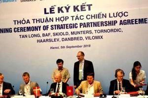 Việt Nam và Đan Mạch ký kết hợp tác trong lĩnh vực sản xuất nông nghiệp