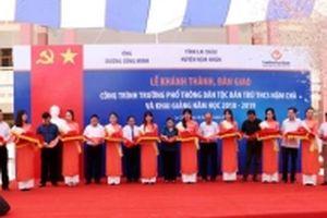 Bàn giao trường học hơn 58 tỷ đồng cho thầy trò ở Lai Châu