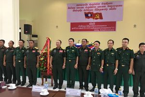 Khai giảng khóa đào tạo đầu tiên của Trường Nghiệp vụ Biên phòng Lào