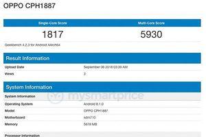 Rò rỉ Oppo R17 Pro chạy chip xử lý Snapdragon 710 và 6GB RAM