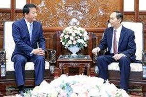 Chủ tịch nước Trần Đại Quang tiếp Đại sứ đặc biệt Việt - Nhật, Nhật - Việt R.Sugi