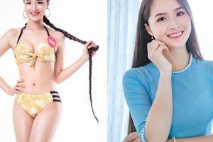 Vẻ thuần khiết của thí sinh Hoa hậu Việt Nam có mái tóc dài kỷ lục 1m4