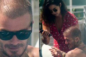 Bà xã Beckham có ghen khi thấy chồng 'thân mật' với 'gái lạ' thế này?