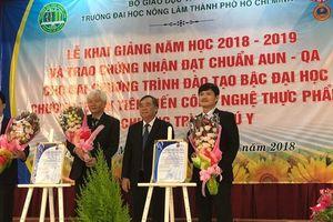 Hai chương trình của Trường ĐH Nông Lâm TP HCM đạt chuẩn AUN-QA
