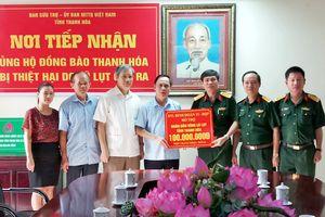 Binh đoàn 15 hỗ trợ nhân dân vùng lũ tỉnh Thanh Hóa