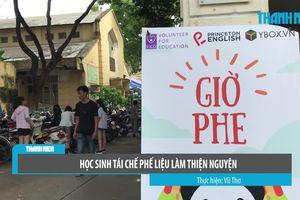 Học sinh Hà Nội mở hội chợ tái chế phế liệu