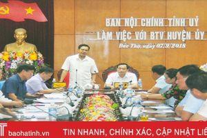 Trưởng ban Nội chính Tỉnh ủy: Không để xảy ra điểm nóng về an ninh trật tự