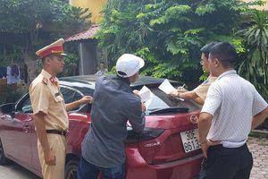 Xe Mazda đánh võng ngược chiều, công an tìm đến tận nhà tài xế