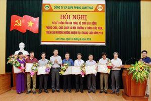Supe Lâm Thao: nhiều thành tích trong công tác an toàn vệ sinh lao động, phòng cháy, chữa cháy và môi trường.