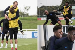 Dàn sao ĐT Anh hào hứng chuẩn bị cho trận ra quân ở UEFA Nations Cup