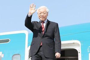 Tổng bí thư kết thúc chuyến thăm Nga, lên đường thăm Hungary