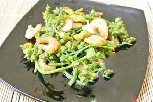 Cách làm tôm xào nụ hoa mướp bổ dưỡng cho bữa cơm cuối tuần