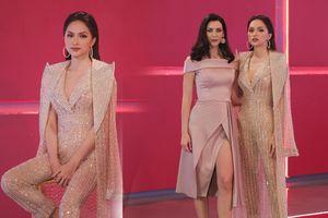 Hương Giang bừng sáng cả tập 4 Siêu mẫu với bộ suit xuyên thấu đính đá tôn vẻ nữ quyền