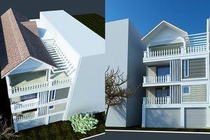 Bản thiết kế chi tiết nội thất nhà 4 tầng đẹp hút hồn ở Long Biên, Hà Nội