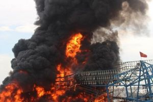 Quảng Nam: Cháy tàu, 11 ngư dân nhảy xuống biển thoát thân