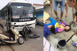 Ô tô chở công nhân Samsung chạy ẩu gây tai nạn kinh hoàng với 3 mẹ con