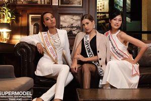 Vừa đặt chân đến Thái Lan, Khả Trang tạo dáng quên sầu, 'lấn át' dàn thí sinh Siêu mẫu Quốc tế 2018