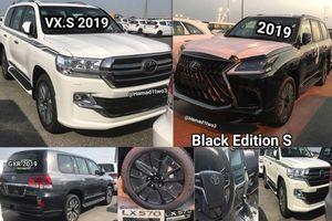 Toyota Land Cruiser 2019 và Lexus LX 570 Black Edition S chính thức lộ diện