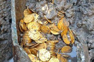 Đào móng nhà, phát hiện hũ tiền vàng còn nguyên vẹn trị giá chục tỷ