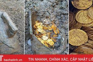 Tìm thấy hũ đựng hàng trăm đồng xu vàng trị giá nhiều triệu USD ở Italy