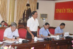 Thường trực Tỉnh ủy cho ý kiến về các văn kiện và chương trình tổ chức Đại hội đại biểu Hội Nông dân tỉnh lần thứ X
