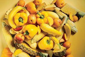 Trái cây và rau quả màu vàng, cam giúp giảm nguy cơ ung thư