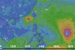 Dự báo thời tiết 11.9: Siêu bão Mangkhut và áp thấp nhiệt đới dồn dập tiến vào Biển Đông