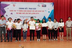 Thừa Thiên- Huế: Trao giải cuộc thi 'Ý tưởng khởi nghiệp đổi mới sáng tạo'