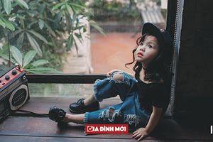 Bộ ảnh bé gái 5 tuổi phong cách 'bụi bặm', đáng yêu
